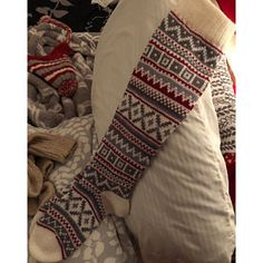 White green brown red CUSTOM MADE Scandinavian pattern rustic fall autumn winter knit knee-high wool socks present gift Red And Grey, Green And Brown, Purple Yellow, Orange Red, Scandinavian Pattern, Ikat Pattern, Wool Socks, Red High, Clothes Crafts