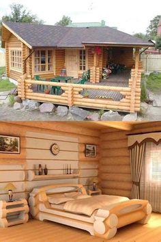 : Modern Cabins Home Design Ideas. home modern, 20 Fantastic Modern Cabins Home Design Ideas - ArtCraftVila Small Log Cabin, Tiny House Cabin, Log Cabin Homes, Tiny House Living, Tiny House Plans, Log Cabins, Log Cabin Plans, Rural House, Living Room