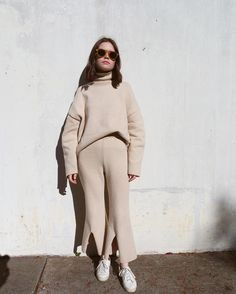 31 Perfect Looks To Copy This December #refinery29 http://www.refinery29.com/2016/12/131522/new-outfit-ideas-december-2016#slide-3 Winter's version of the matching set couldn't be more chic...or comfortable.The Frankie Shop top and pants....