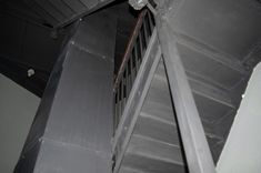 The servants quarters stairwell where we heard voices during our paranormal investigation at the Lafayette Hotel Lafayette Hotel, Emergency Lighting, Paranormal, Investigations, Study