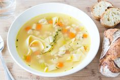 Quick Chicken Noodle Soup Recipe - When you want a piping hot bowl of chicken soup but don't want to slave over the stove for hours