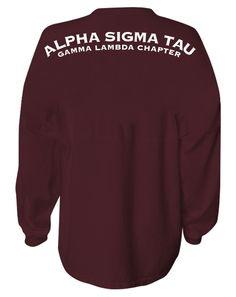 Alpha Sigma Tau Spirit Jersey by Adam Block Design | Custom Greek Apparel & Sorority Clothes | www.adamblockdesign.com