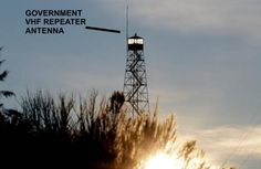 Government VHF repeater antenna on fire watch tower with militant in Oregon 2016 armed standoff Ham Radio Repeaters, Portable Ham Radio, Two Way Radio, Radio Frequency, Survival Skills, Wind Turbine, Helpful Hints, Oregon, Tower