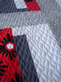 "The quilting here is just lovely! ""Scandia Crush"" quilt by Jacquie Gering of Tallgrass Prairie Studio."