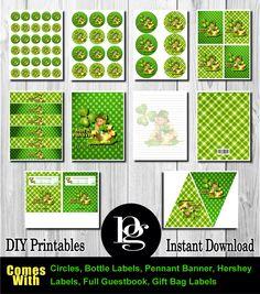 St. Patrick's Day Printable Party Kit - DIY - $14.95 matchmypartytheme.com