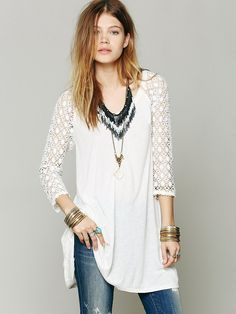 Free People Pitch Hitter Tunic at Free People Clothing Boutique
