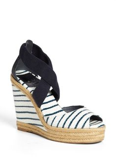 Tory Burch Blue Natanya Wedge Sandal