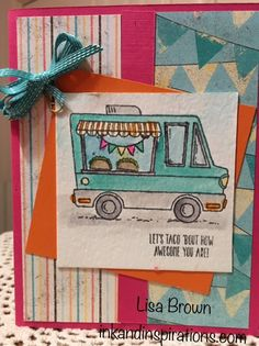 Taco 'bout a cute card! Video on the blog! www.inkandinspirations.com