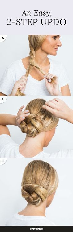 2 steps and a few Hair grips for this elegant look!