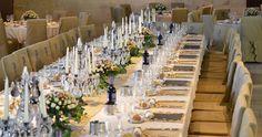 Il tavolo imperiale del Salone delle Feste durante un matrimonio a Torre del Parco http://www.torredelparco.com/location-matrimoni/