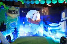 Neverland backdrop from a Magical Neverland Birthday Party on Kara's Party Ideas | KarasPartyIdeas.com (10)