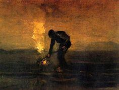 Peasant Burning Weeds, Vincent van Gogh, 1883