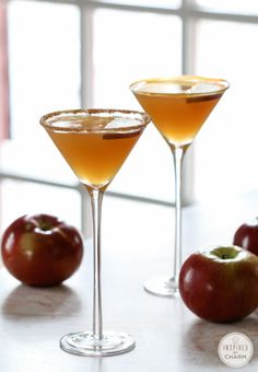 Apple martini's are even better with some caramel mixed in. Get the recipe from Inspired By Charm.   - Delish.com