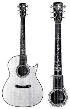 J.C. Larrivée guitars have lovely inlay and pleasing tone