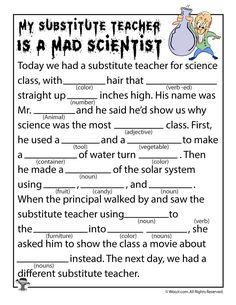 Mad Scientist Mad Lib