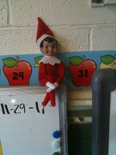 "1st Grade ROCKS!!!: Loving our classroom ""Elf on the Shelf"""