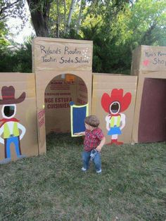 Cowboy theme Birthday Party Ideas | Photo 18 of 25 | Catch My Party