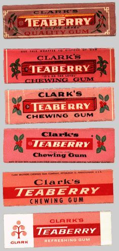 Teaberry Chewing Gum - loved this flavor