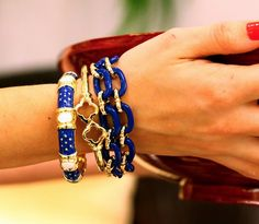 Navy arm candy.