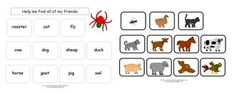 Animal Word Match for The Very Busy Spider from Making Learning Fun. Preschool Books, Kindergarten Writing, Kindergarten Activities, Literacy, Letter S Activities, Early Learning Activities, Fun Learning, Spider Animal, The Very Busy Spider