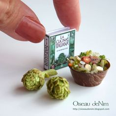 la cucina italiana miniature recipe book and salad