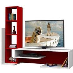 Compra Muebles Starhome - Centro De Entretenimiento Believe Seis Secciones-  Rojo Y Blanco online ✓ Encuentra los mejores productos Veladores Muebles ... 9e342de2b9