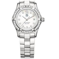Tag Heuer Aquaracer Swiss-Quartz Diamond Mother-of-Pearl Dial Watch