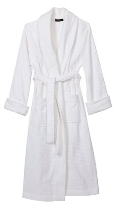 Women's Robe - White terrycloth robe (long)