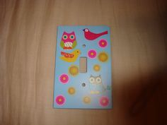 Baby room light switch cover! LOVE!