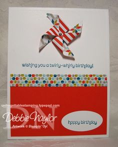 Unfrogettable Stamping | Pinwheel card 2013-01-27  www.unfrogettablestamping.typepad.com