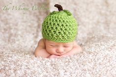 Green Apple Hat by misslis81 on Etsy, $17.00