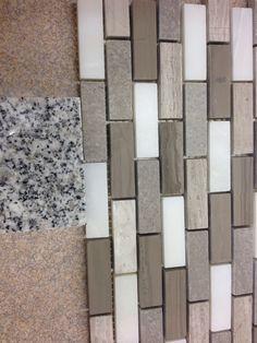 Meteorite White Granite Vanity Top Arctic Storm Tile Backsplash Home Depot