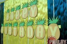 Pineapple birthday sign