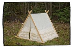 Kids Lace Ruffle Teepee Play tent. So pretty.
