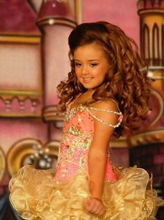 Gold and Coral Royalty Designs Pageant dress