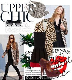 """Fashion collocation---rushopn.com"" by sara-mackay ❤ liked on Polyvore"