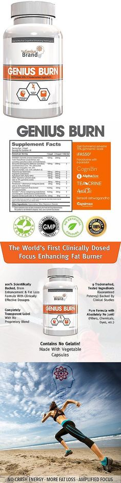 Weight Loss Supplements: Genius Burn Weight Loss Supplement, Natural Energy, Memory And Brain, 60 V-Caps BUY IT NOW ONLY: $55.0