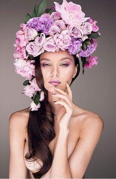 Beauty photography, photography women, fashion photography, fascinators, he Photography Women, Beauty Photography, Portrait Photography, Fashion Photography, Photography Flowers, Photography Ideas, Fashion Face, Fashion Beauty, Floral Headdress