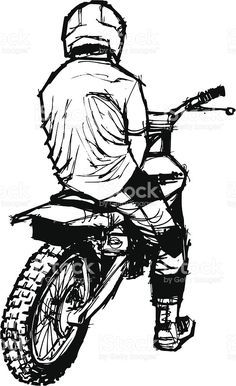 Motocross na ladeira foto royalty-free