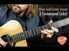 3 Blues Turnaround Licks - End Your Solos in Style! Blues Guitar Chords, Music Theory Guitar, Guitar Chord Chart, Guitar Tabs, Music Guitar, Playing Guitar, Learning Guitar, Lead Guitar Lessons, Blues Guitar Lessons