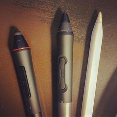 Stylus love!  Wacom to Apple. :) #draw #digitalart #stylus #pen #pencil #wacom #applepencil #doodle #sketch #link