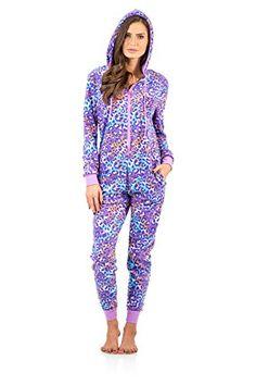 eab1e4c858 Ashford   Brooks Women s Microfleece Hooded One Piece Pajama Jumpsuit