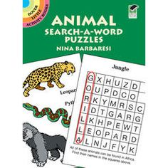 Dover Publications-Animal Search-A-Word Puzzles Book Animal Activities, Book Activities, Activity Books, Puzzle Books, Word Puzzles, Dover Publications, Reading Levels, Great Books, Childrens Books