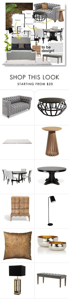 """The Plan :: 050816"" by irafra ❤ liked on Polyvore featuring interior, interiors, interior design, home, home decor, interior decorating, Tribecca Home, Diamond Sofa, Ralph Lauren Home and Grandin Road"