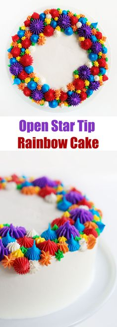 Create a beautiful, show-stopping cake with only open star tips! (Make this for…