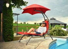 Vivere Original Dream Lounger - Hammock Chairs & Swings at Hayneedle Hammock Swing Chair, Swinging Chair, Sun Lounger, Swing Chairs, Swing Seat, Patio Chaise Lounge, Chaise Lounges, Outdoor Lounge, Gardens