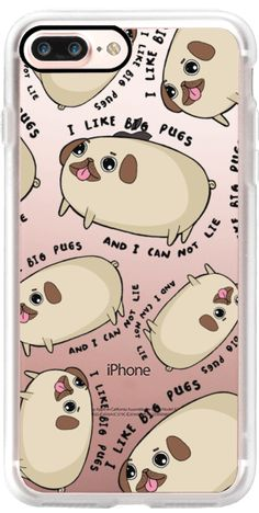 Casetify iPhone 7 Plus Classic Grip Case - I like big pugs by House Of Wonderland #Casetify