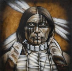 Choose your favorite native american paintings from millions of available designs. All native american paintings ship within 48 hours and include a money-back guarantee. Apache Native American, Native American Face Paint, Native American Warrior, Native American Paintings, Native American Pictures, American Indian Art, Native American History, Indian Paintings, Portrait Paintings