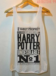 Harry Potter Daily Prophet News Undesirable No.1 Shirt Tank