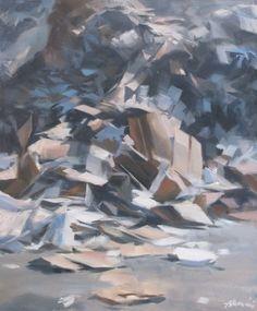 """#1340 paper"" Oil on canvas, 40x30 cm #art"